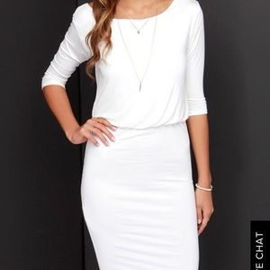 Lulus Exclusive - Ivory Backless Dress